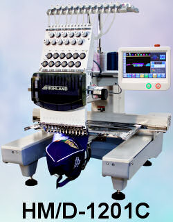 12 Needle Compact Embroidery Machine