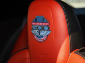 Embroidered auto seat cover