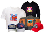 Embroidered Apparel and Accessories